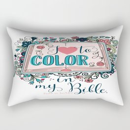 I love to color in my Bible Rectangular Pillow
