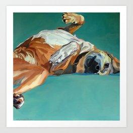 Johnny the Dog Rests Art Print