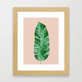 Composition tropical leaves VII Framed Art Print