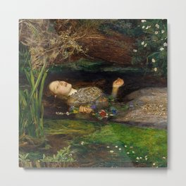 """Ophelia"" by Sir John Everett Millais (1851) Metal Print"