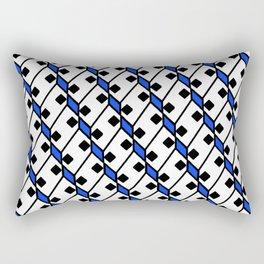 Diamond Domino Square Dice Eyes Dalmatian Pattern Rectangular Pillow