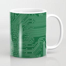 Green Geek Motherboard Circuit Pattern Coffee Mug