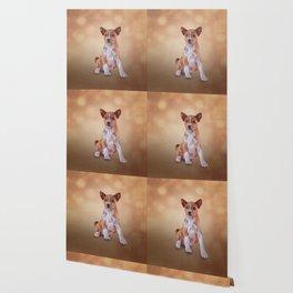 Drawing puppy breed Basenji Wallpaper