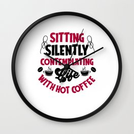 Coffee Phrases Catchy Wall Clock