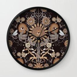 Mutant Helianthus Damask - Winter Wall Clock
