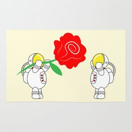 Astro Love Story | Roses Are Red | Valentines | Love You | pulps of w Rug