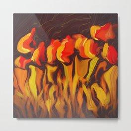 Tulips in Timidity Metal Print