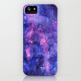Galaxy Pattern Watercolor iPhone Case