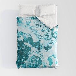 Deep Turquoise Sea - Nature Photography Comforters