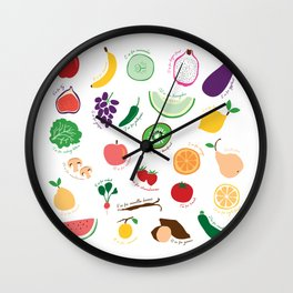 ABC Fruit and Vege Wall Clock