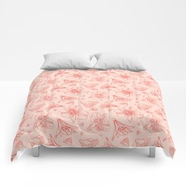 Pink Lily Flower Pattern 1 Comforters