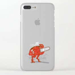 Chainsawrus Clear iPhone Case