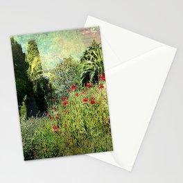 Vintage garden landscape Stationery Cards