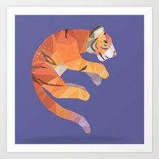 Flying Siberian Tiger Art Print