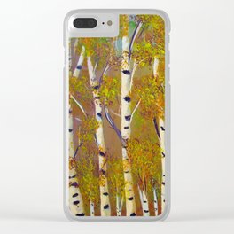 Birch trees-3 Clear iPhone Case