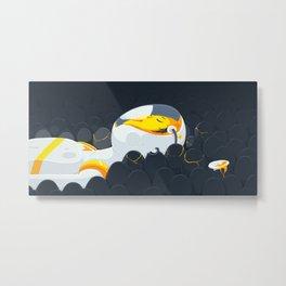 Egg Breath Metal Print