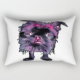 Lugga The Friendly Hairball Monster For Ghouls Rectangular Pillow