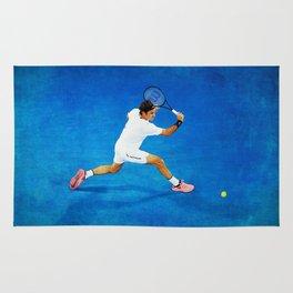 Roger Federer Sliced Backhand Rug