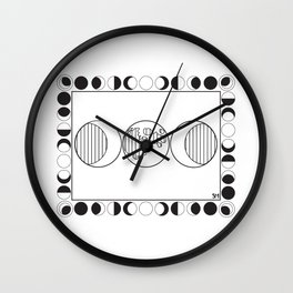 Many Phases of Luna Wall Clock