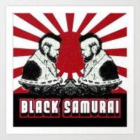 Black Samurai Art Print
