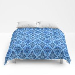 Moroccan Blue tiles Comforters