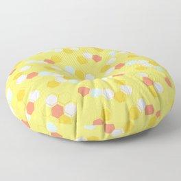 Honeycomb - Sunshine Yellow Floor Pillow