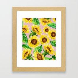 Sunny #society6 #decor #buyart Framed Art Print
