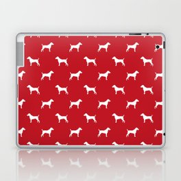 Jack Russell Terrier red and white minimal dog pattern dog silhouette pattern Laptop & iPad Skin