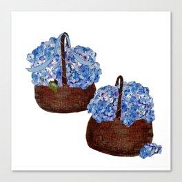 Two Baskets of Hydrangea Love Canvas Print