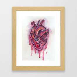 Dripping Heart Framed Art Print