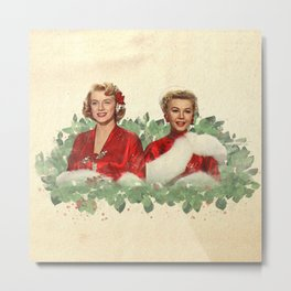 Sisters - A Merry White Christmas Metal Print