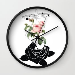Space mystery Roses solar system Wall Clock