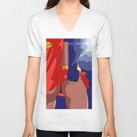 butt V-neck T-shirts featuring Wonder Butt by Born2do