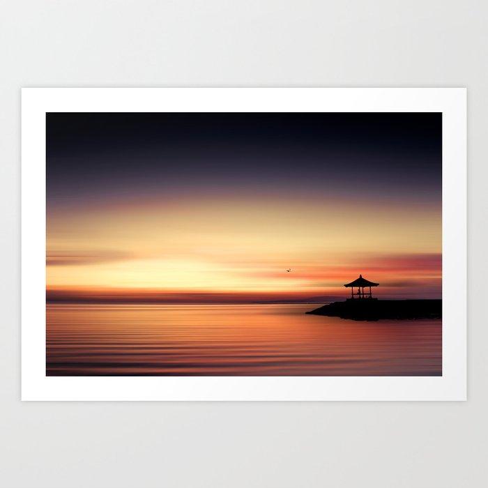 the silent sea Art Print