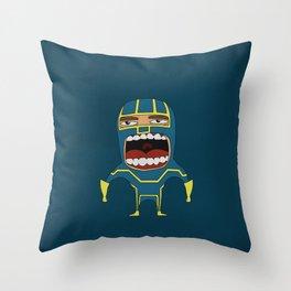 Screaming Kick-Ass Throw Pillow