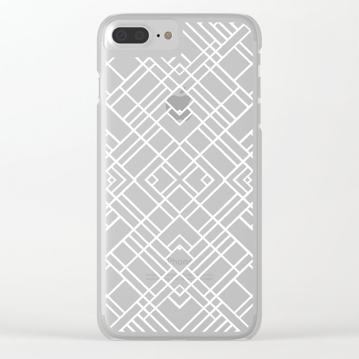 Map Outline 45 Repeat Clear iPhone Case