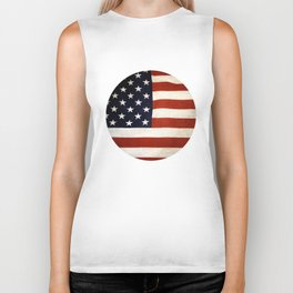 Vintage US Flag, Stars and Stripes Biker Tank