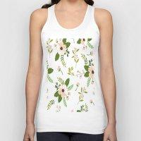 flower pattern Tank Tops featuring Flower Pattern by Jenna Davis Designs