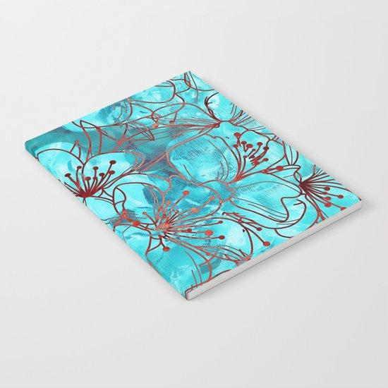Little Blue Flowers Notebook