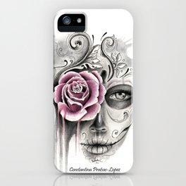 Rose Sugar Skull iPhone Case