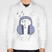 music notes Hoodies featuring Music by LCMedia