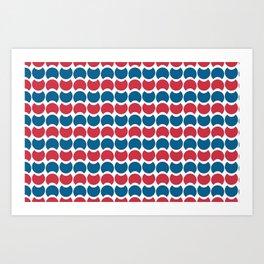 Hob Nob America Stripes Art Print