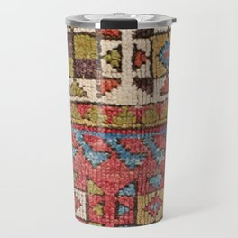 Octagon Stars // 19th Century Colorful Classic 1970s Brown Green Orange Pallete Ornate Accent Patter Travel Mug