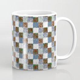 Rustic Brown Gray Blue Patchwork Coffee Mug