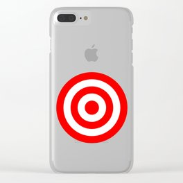Bullseye Target Red & White Shooting Rings Clear iPhone Case