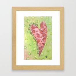 paisley heart Framed Art Print