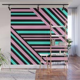 Geometric pattern. Striped triangles 5 Wall Mural