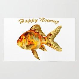 Elegant Happy Nowruz Goldfish Persian New Year Rug