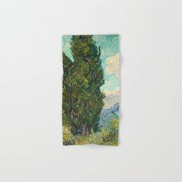 Cypresses by Vincent van Gogh Hand & Bath Towel