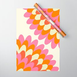 Dahlia at 60's Wrapping Paper